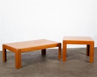 Lot 159: Niels Eilersen Danish Teak Coffee and End Table
