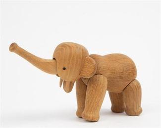 Lot 166: Kay Bojesen Denmark Articulated Elephant Toy