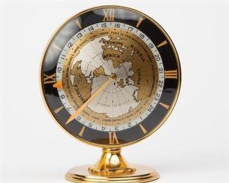 Lot 172: IMHOF Switzerland Brass Desk Clock with World Time