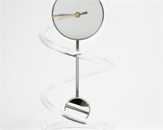 Lot 174: Jon Gilmore Spiral Lucite Clock