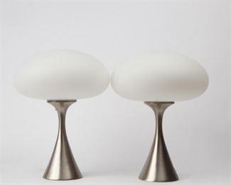 Lot 177: Vintage Laurel Pair of Mushroom Table Lamps