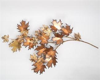Lot 181: Curtis Jere 1971 Oak Leaf Wall Sculpture