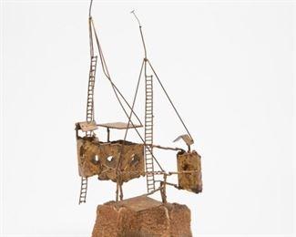 Lot 182: Brutalist Metal Sculpture