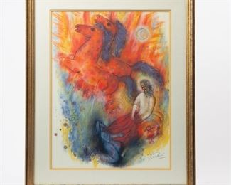Lot 185: Reuven Rubin 'The Prophets' Lithograph with COA