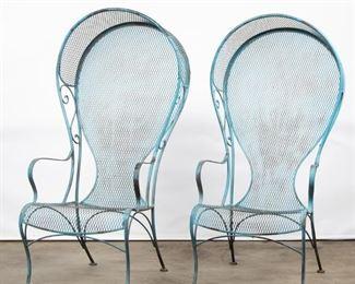 Lot 190: 1960s Woodard Canopy Chairs, Pair