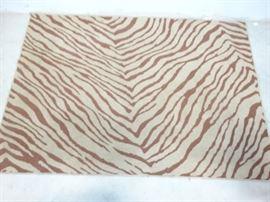 BrownTan Animal Print Rug