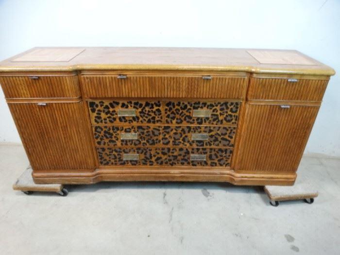Dresser with Leopard Trim