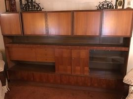 "Mid Century wall unit brought from Germany - 9'2"" wide 6' tall"