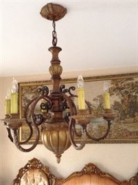 Chandeliers are all for sale!