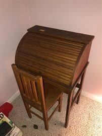 Child's roll top desk.  Hand crafted.