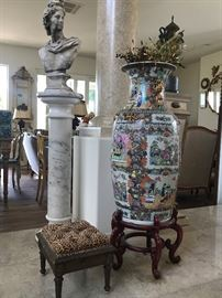 Large Chinese Urns