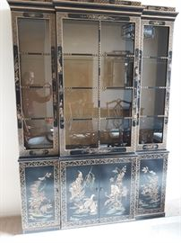 Drexel Chinese Hand Painted China Cabinet