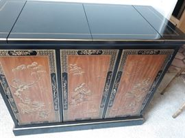 Drexel Chinese style sideboard cabinet