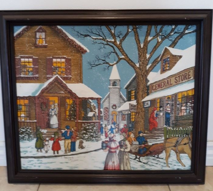 H Hargrove signed numbered print Soon It Will Be Christmas