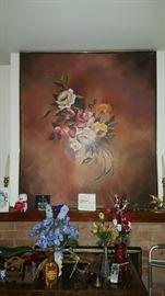 Large Floral Art
