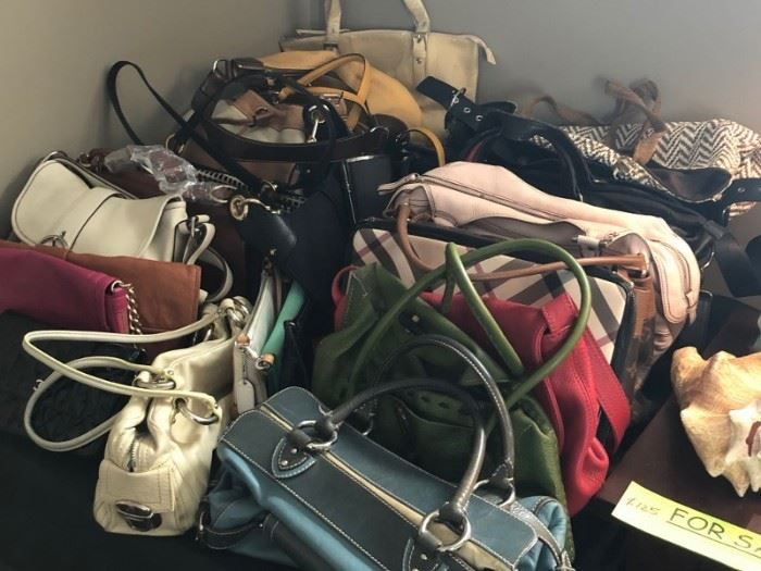 Handbags by Ferragamo, Louis Vuitton, Burberry, Tory Burch and Many Others