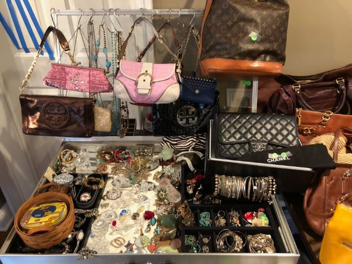 Loaded Jewelry Case including Diamonds, Silver and Tiffany