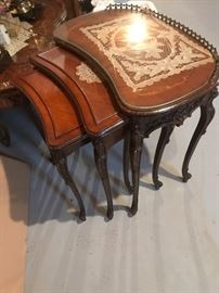 Antique nesting tables very good condition