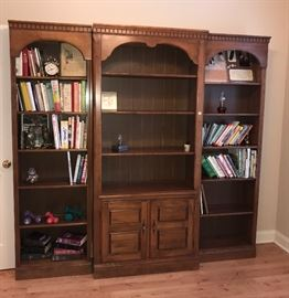 3 section bookcase