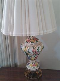 Enamel hand painted lamp