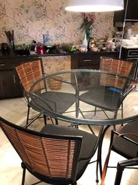Glass Table w/ four Chairs