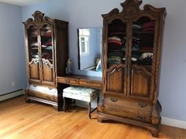 Bedroom furniture - lots of clothes in drawers & Costume jewelry