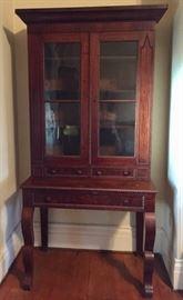 Atq Mahogany Secretary Bookcase