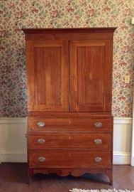 Atq Cupboard on Chest Circa 1800s