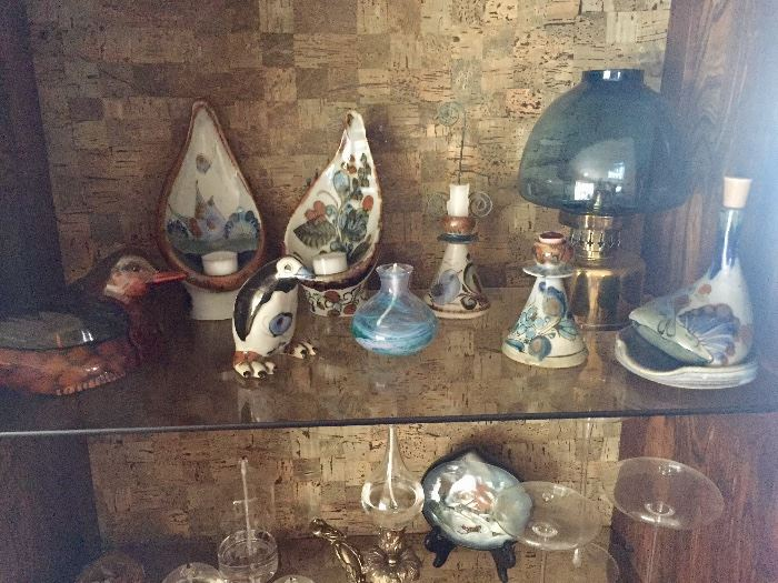 Pottery, oil lamps