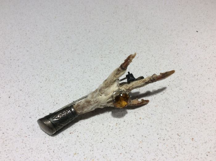 Grouse foot pin from Scotland