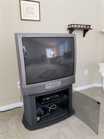 Large Sony TV priced at $10. TV stand below priced separately.