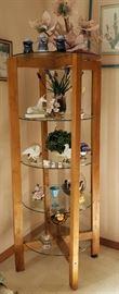 Very nice unique round shelf unit (knick knacks)