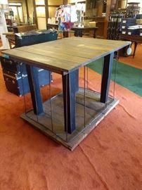 This was used as a display piece in the store but would make a great floating bar or kitchen island!!