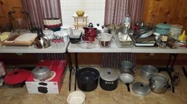 Vintage pots and pans