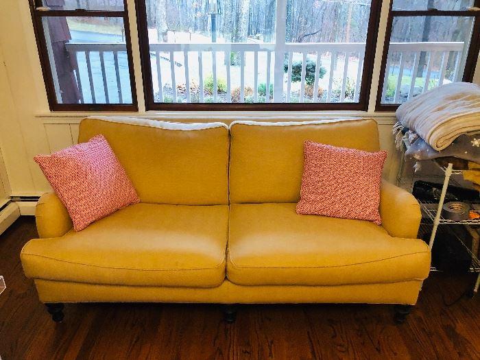 Yellow Love Seat 66L 35D 32H