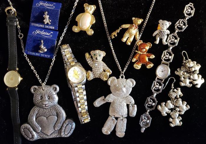 James Avery Sterling Watch, Teddy Bear Jewelry