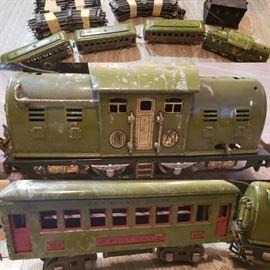 Lionel train 1940s, train track and controller