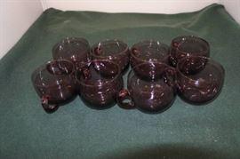 8 Plum Purple Glass Set