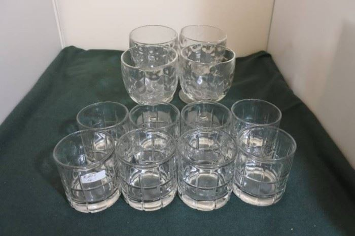 Lot of Scotch and Wine Glasses