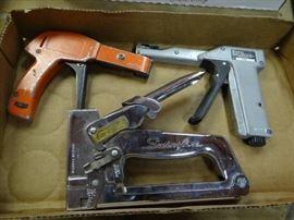 2 Cable tie tool staple gun.