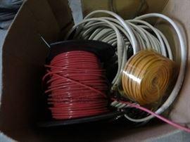 Box of various wire.