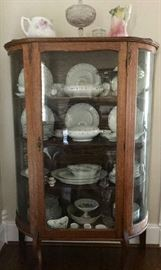 Vintage cabinet with china from the early 1900's