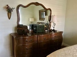 Bassett French Provincial dresser with mirror