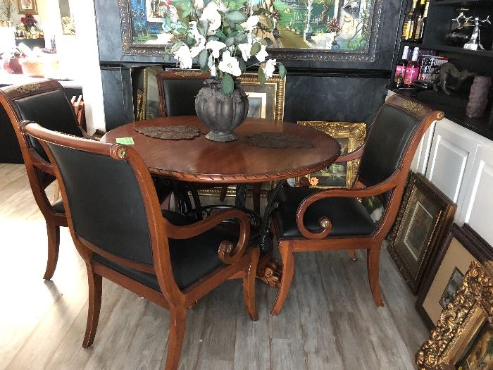 Henredon chairs with this beautiful table
