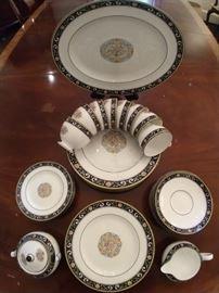 "43-piece set of Wedgwood ""Runnymede"" china."