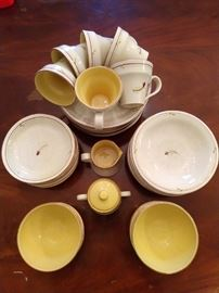 38-piece set of Italian Vietri china.