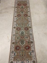 "Newer Persian Mahal design runner, measures 10' x 2' 7""."