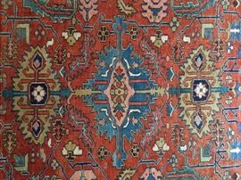 This is a pic of the center medallion of the Persian Serapi rug.