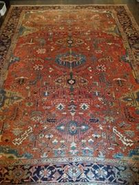 "GORGEOUS antique Persian Serapi, measures 9' 11"" x 12' 10""."