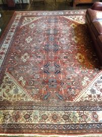 "Lovely vintage Persian Mahal rug, measures 13' 10"" x 10' 6""."